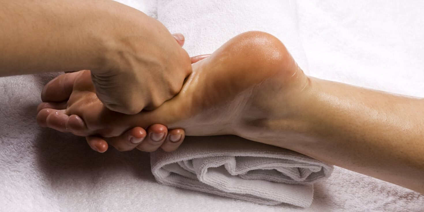 Close up of foot massage